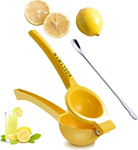 Manual Juicer Lemon Squeezer, Citrus Juicer, Fruit Juicer Lime Press, Fast Handle Press Tool, Professional Hand Juicer Kitchen Tool (With Mixing Spoon)