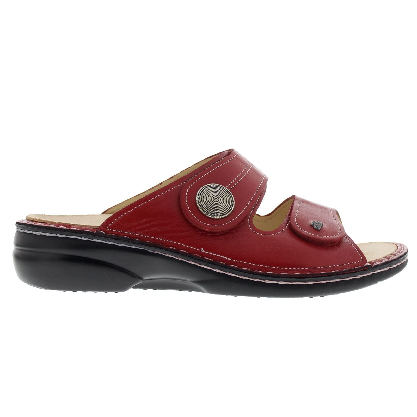 Finn Comfort Womens 2550 Sansibar Venezia Red Leather Sandals 40 EU