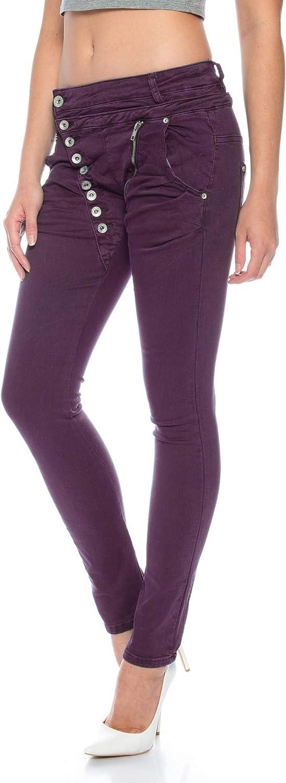Crazy Age Boyfriend Baggy Jeans avec boutonnière oblique et fermeture Éclair C 613 C613h-2