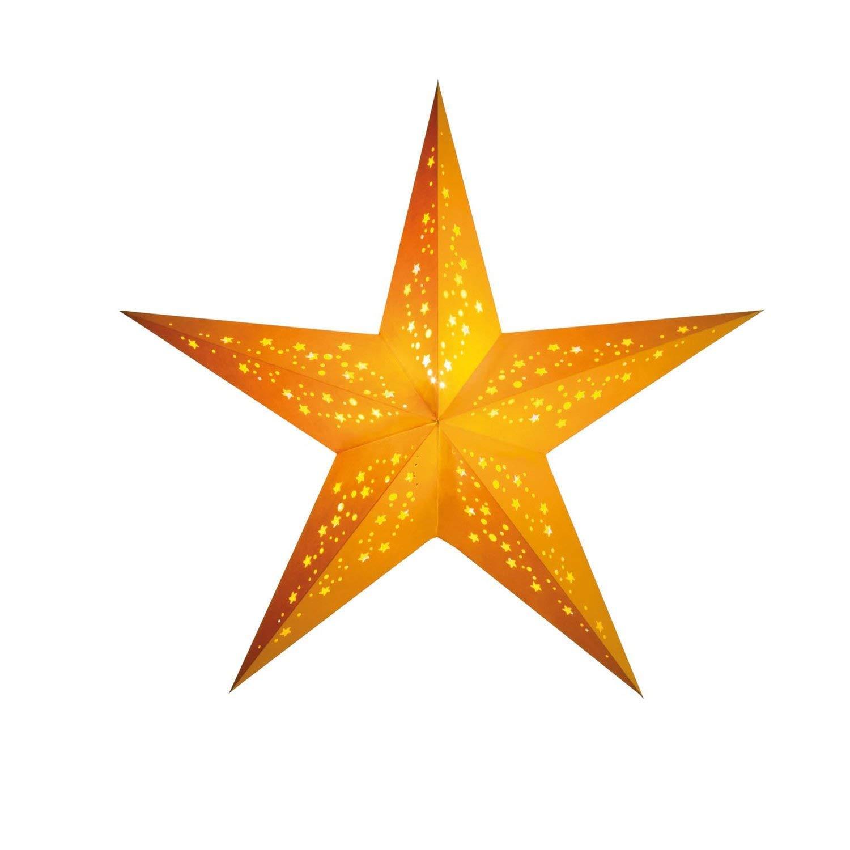 Papierstern Weihnachtsdeko | Weihnachtssternmia gelb M | Handgemacht | Papierstern 5 Zacken | starlightz handmade fairtrade | Weihnachten Leuchtdeko | Fensterdeko | Weihnachtsgeschenk