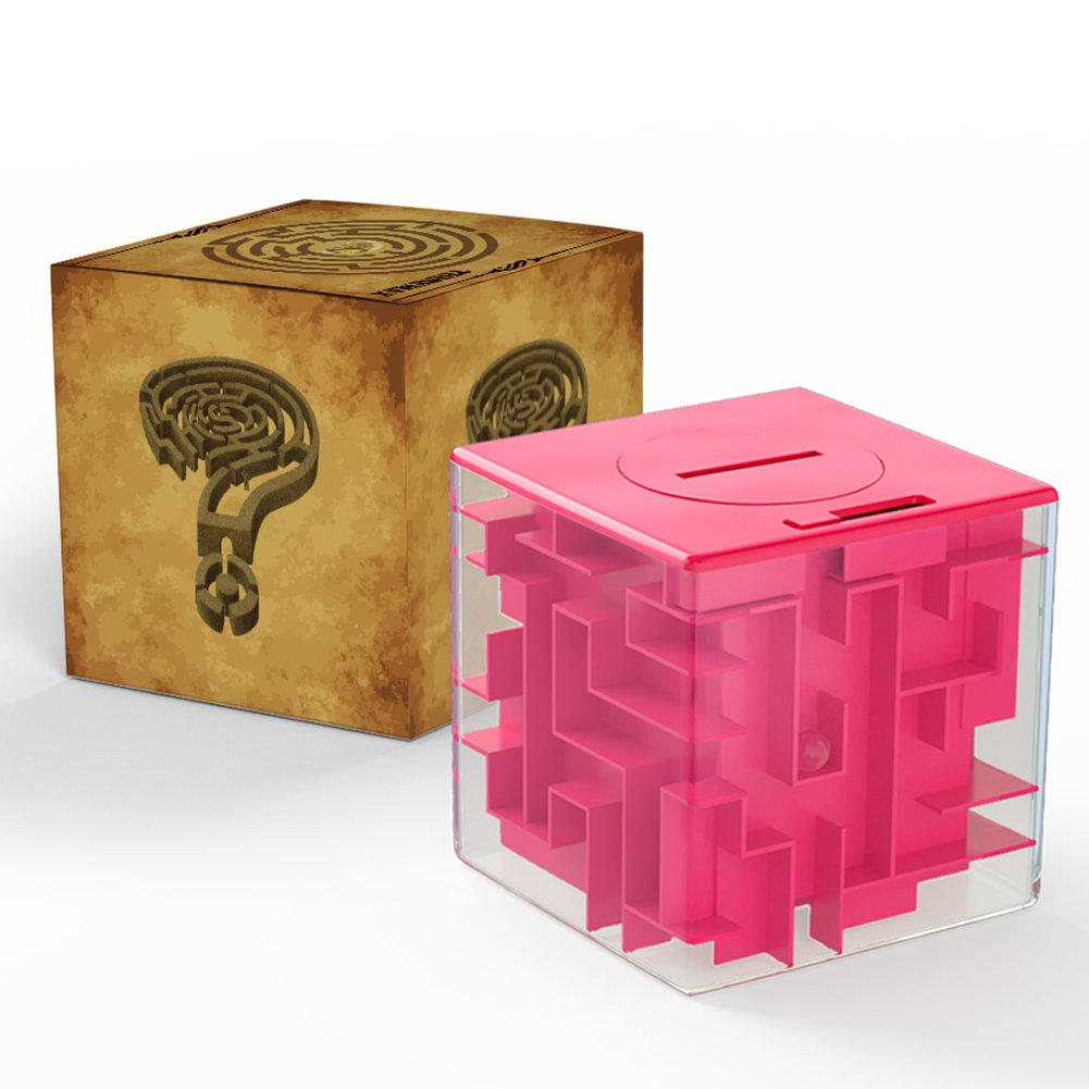2019年春の (Rose Red) Christmas - Money Saving Cube Gift 3D Puzzle for Money Maze Pot for Kids and Adults Christmas Gift by Acekid (Rose red) ローズレッド B0769HRZ3T, BRICBLOC-PLOT:9308a9a8 --- clubavenue.eu