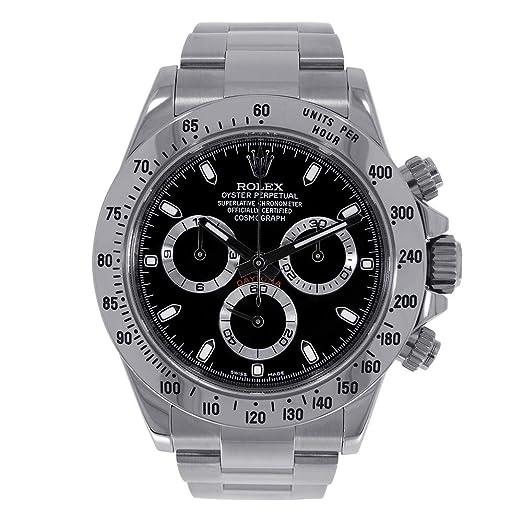 Rolex Daytona Automatic-Self-Wind 116520 - Reloj de Pulsera para Hombre (Certificado