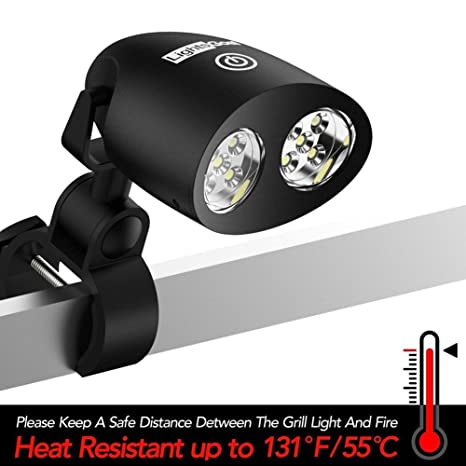 LED Luz de barbacoa, LightsGoal Outdoor LED Barbecue Lamp para Gas y Electricidad, 360 ° de rotación Battery Powered 3 Levels de brillo, Uso para Summer ...