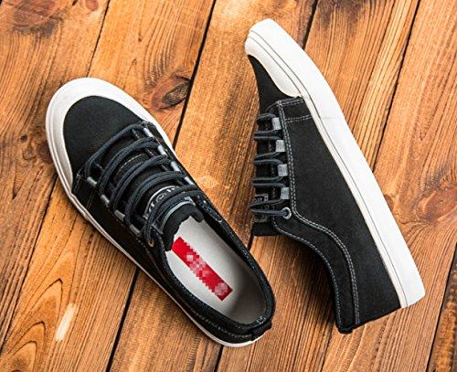 retro moda sneakers WFL da uomo scarpe uomo casual da Estate da scarpe uomo scarpe scarpe Nero di versatile marea scarpe tela vO5rOq