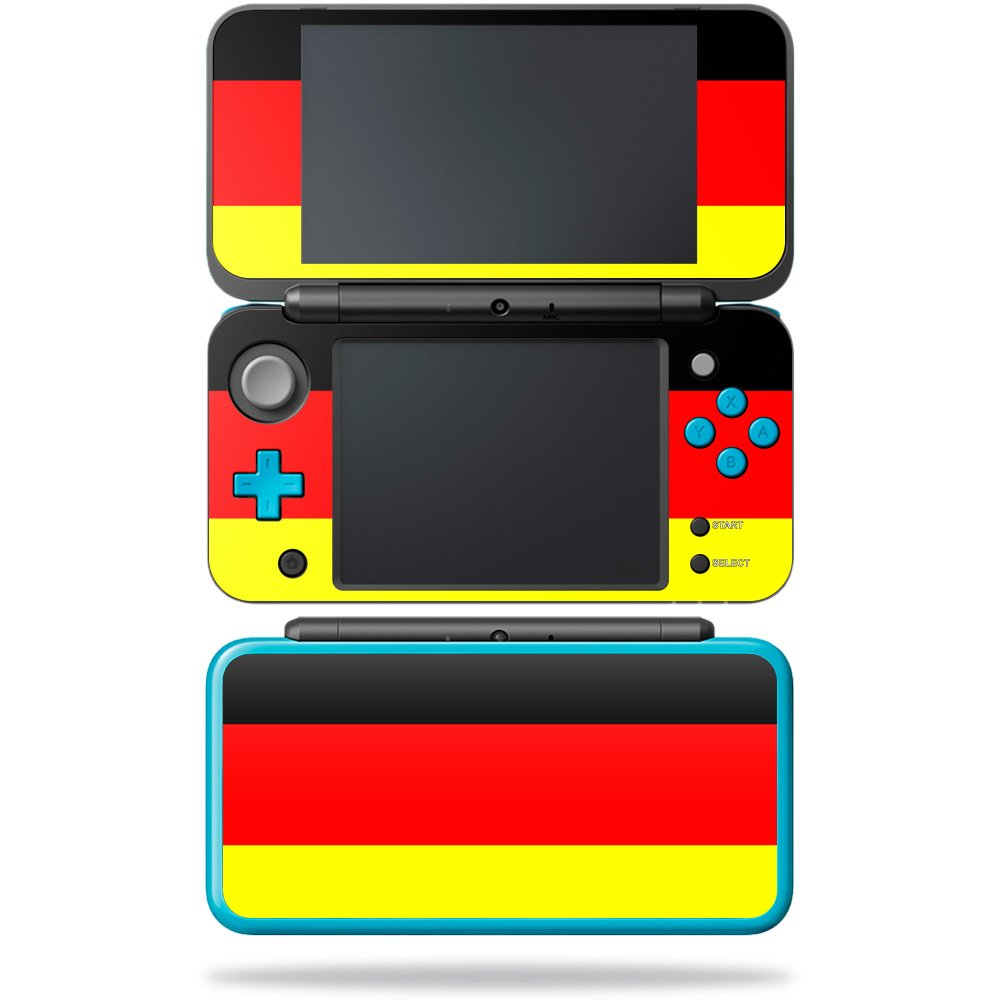 MightySkins Skin for Nintendo 2DS XL - German Flag | Protective, Durable, and Unique Vinyl Decal wrap Cover | Easy to Apply, Remove, and Change Styles | Made in The USA by MightySkins (Image #1)