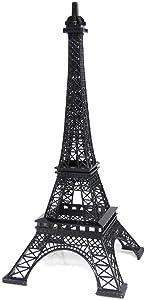 15 Inch (38cm) Black Metal Eiffel Tower Statue Figurine Replica Centerpiece