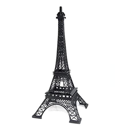 Ohah Craft Black Metal Eiffel Tower Statue Figurine Replica Centerpiece 20, 15 inch