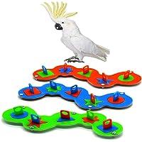 3 piezas de loros juguete de entrenamiento de juguete acrílico colorido Rainbow Bird Juguete interactivo Aliviar el estrés para loros pequeños Seguro y saludable 9.5 '' para loros pequeños
