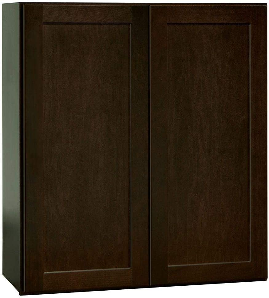 Amazon Com 27x30x12 In Shaker Wall Cabinet In Java Kitchen Dining