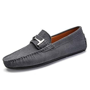 Zapatos para Hombre, Mocasines de Primavera y Slip-ons Lazy Zapatos Hombres Formales de Gran tamaño Zapatos Casuales Suela Suave Confort conducción Zapatos ...