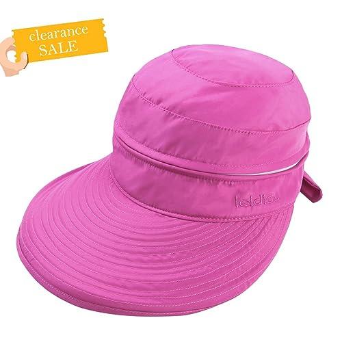 Sombrero De Sol Anti-ultravioleta De Ala Ancha Visera Casquillo Plegable para Mujer V UPF 50+ Protec...