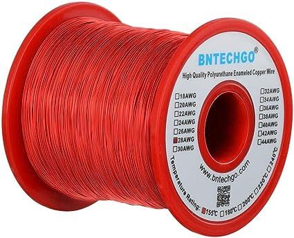 1 bobina de hilo de cobre esmaltado de 28 AWG, 454 g