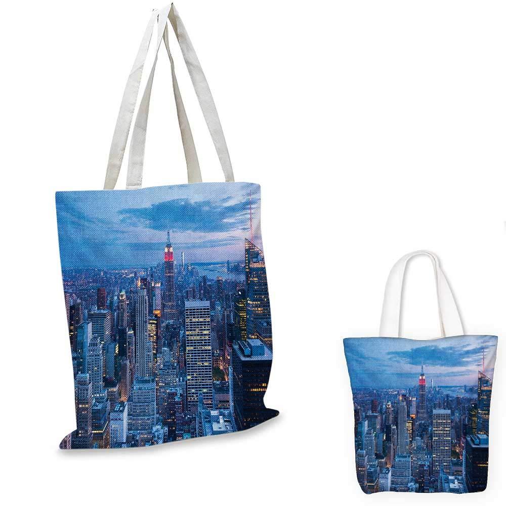 ニューヨーク空中夜景 ニューヨーク市で夕暮れのスカイクラウディサンセット ファッションキャピタルアートフォトブルー。 12