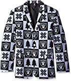 NFL Oakland Raiders Men's Patches Ugly Business Jacket, Size 50/XX-Large