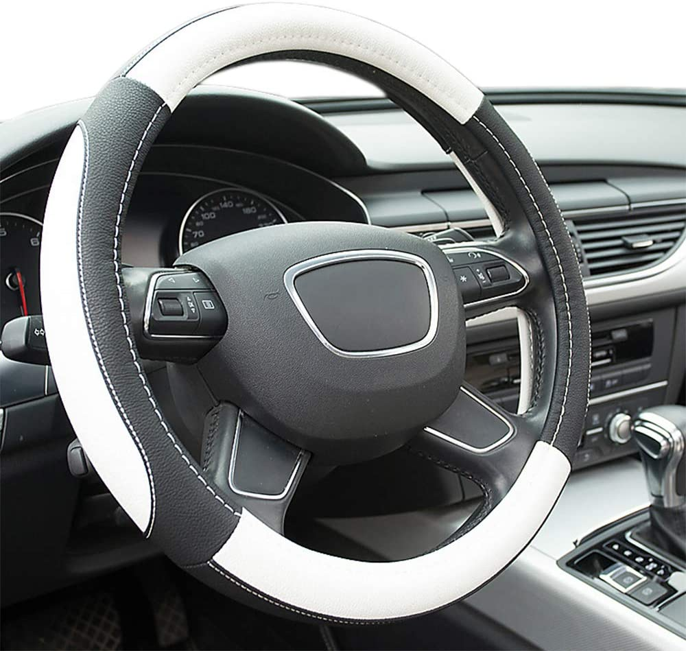 transpirable Funda universal para volante 30-38/cm Antideslizante Finoki Protecci/ón de microfibra de piel para volante