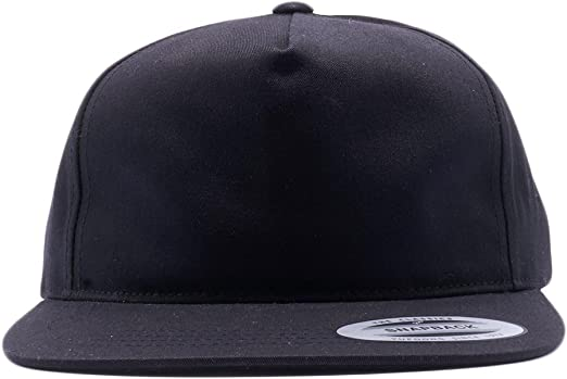6502 Yupoong Unstructured Five-Panel Flat Bill Snapback Cap New for 2018