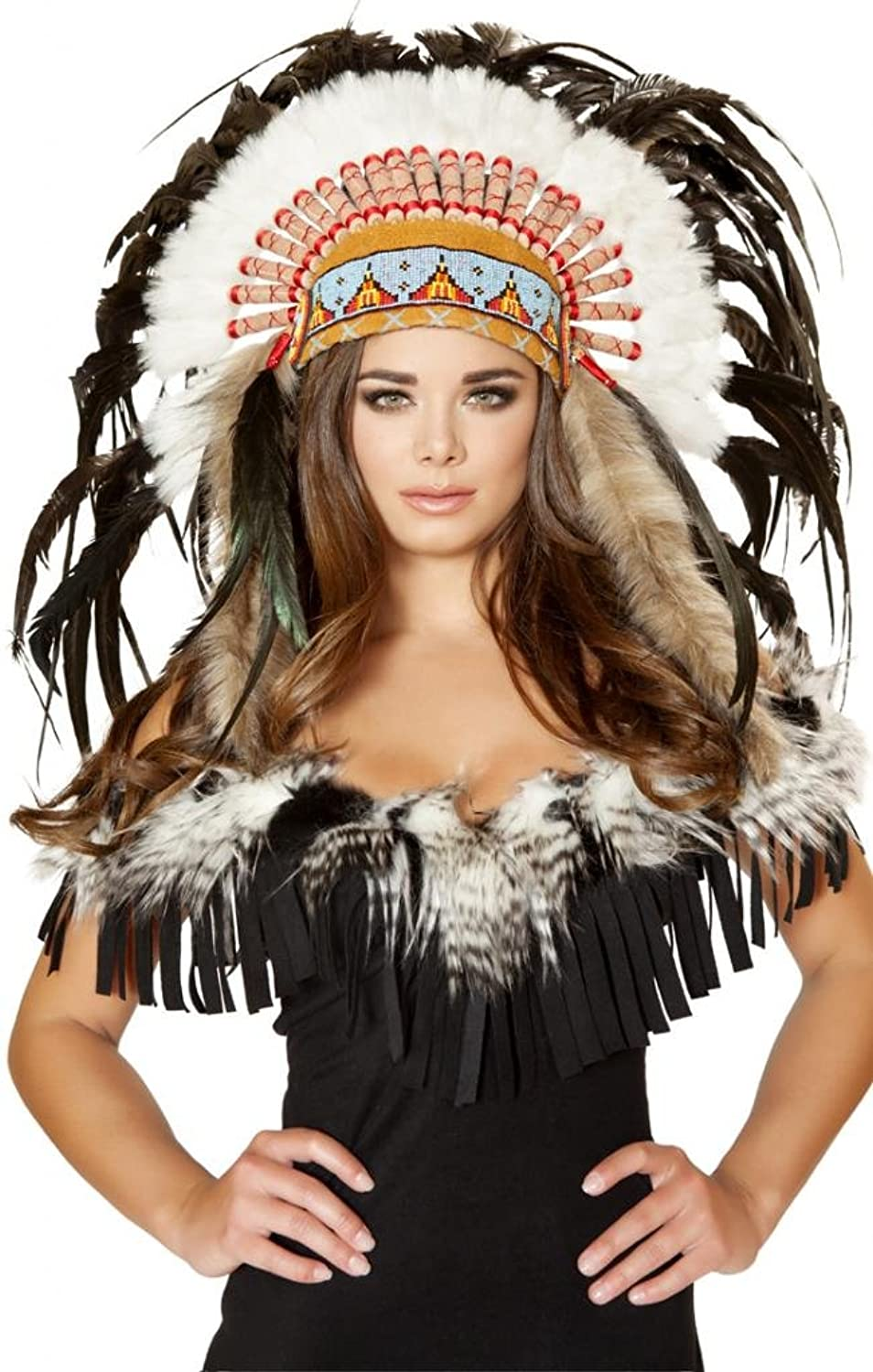 Amazon.com Sexy Indian Girl Feather Head Dress Halloween Accessory Clothing  sc 1 st  Amazon.com & Amazon.com: Sexy Indian Girl Feather Head Dress Halloween Accessory ...