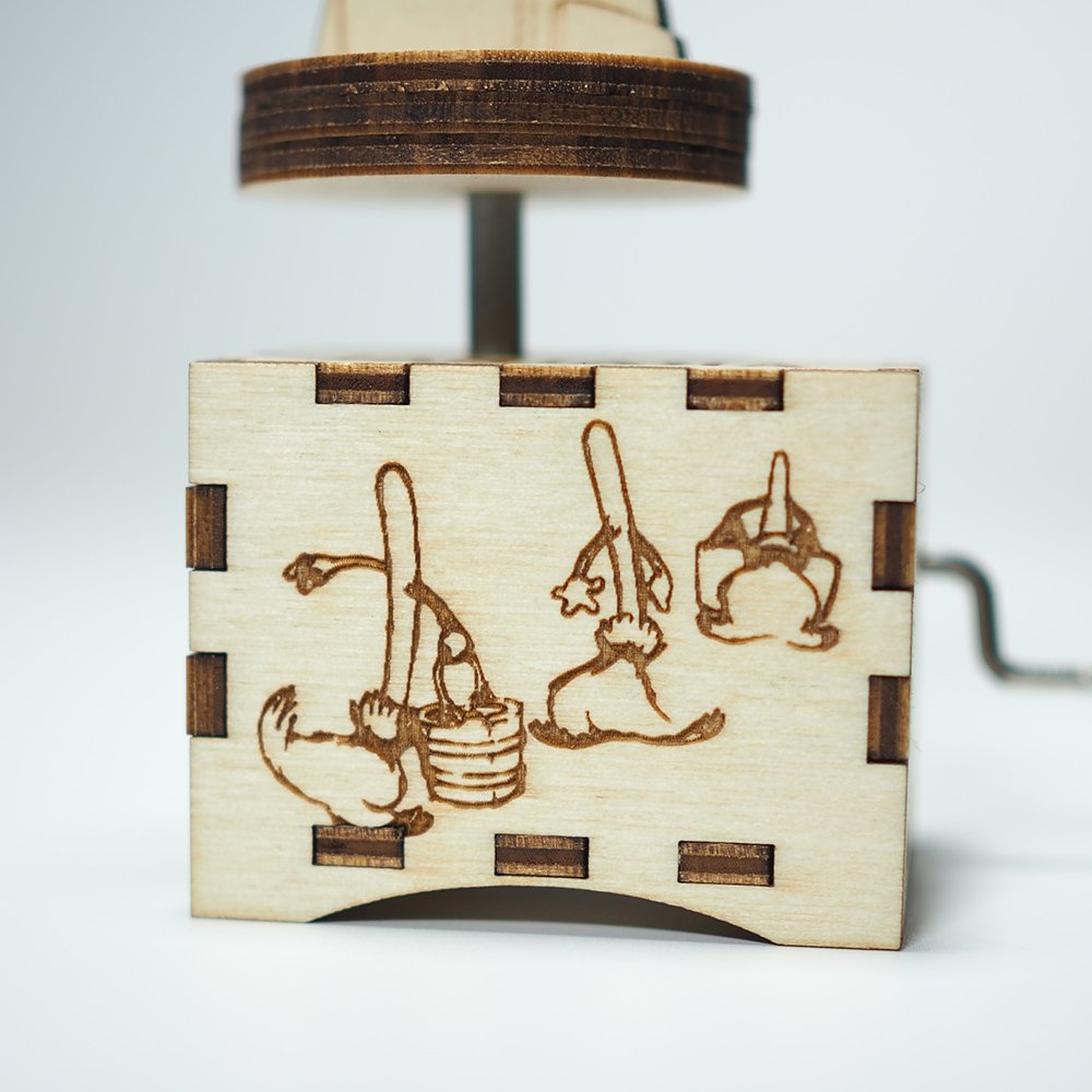 Fantasia Music Box - The Sorcerer's Apprentice - Laser cut and laser engraved wood music box. Perfect gift, memorabilia, collectible by Quetzal Studio (Image #3)