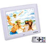 'Andoer 7 HD TFT-LCD Digitaler Bilderrahmen mit Diashow Wecker MP3 MP4 Movie Player Remote Desktop