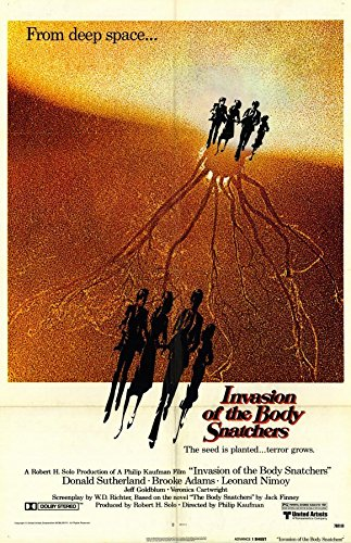 Invasion of the Body Snatchers Poster Movie Donald Sutherland Brooke Adams Veronica Cartwright