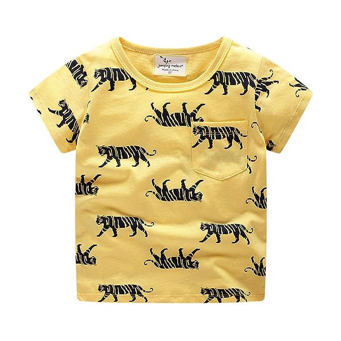 BHYDRY Ropa Infantil Niños Niños Bebé Chicas Niños Dibujos Animados Imprimir Camiseta Camisetas Tops Ropa: Amazon.es: Ropa y accesorios
