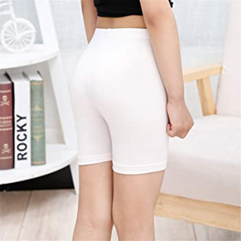 Thenxin 6 Pieces Safety Leggings Shorts for Women Ultra Thin Stretch Undershorts Wearing Supplies