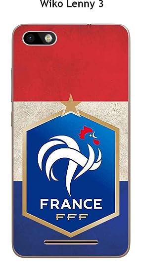 Onozo Carcasa Wiko Lenny 3 Design Foot France Fondo Bandera ...