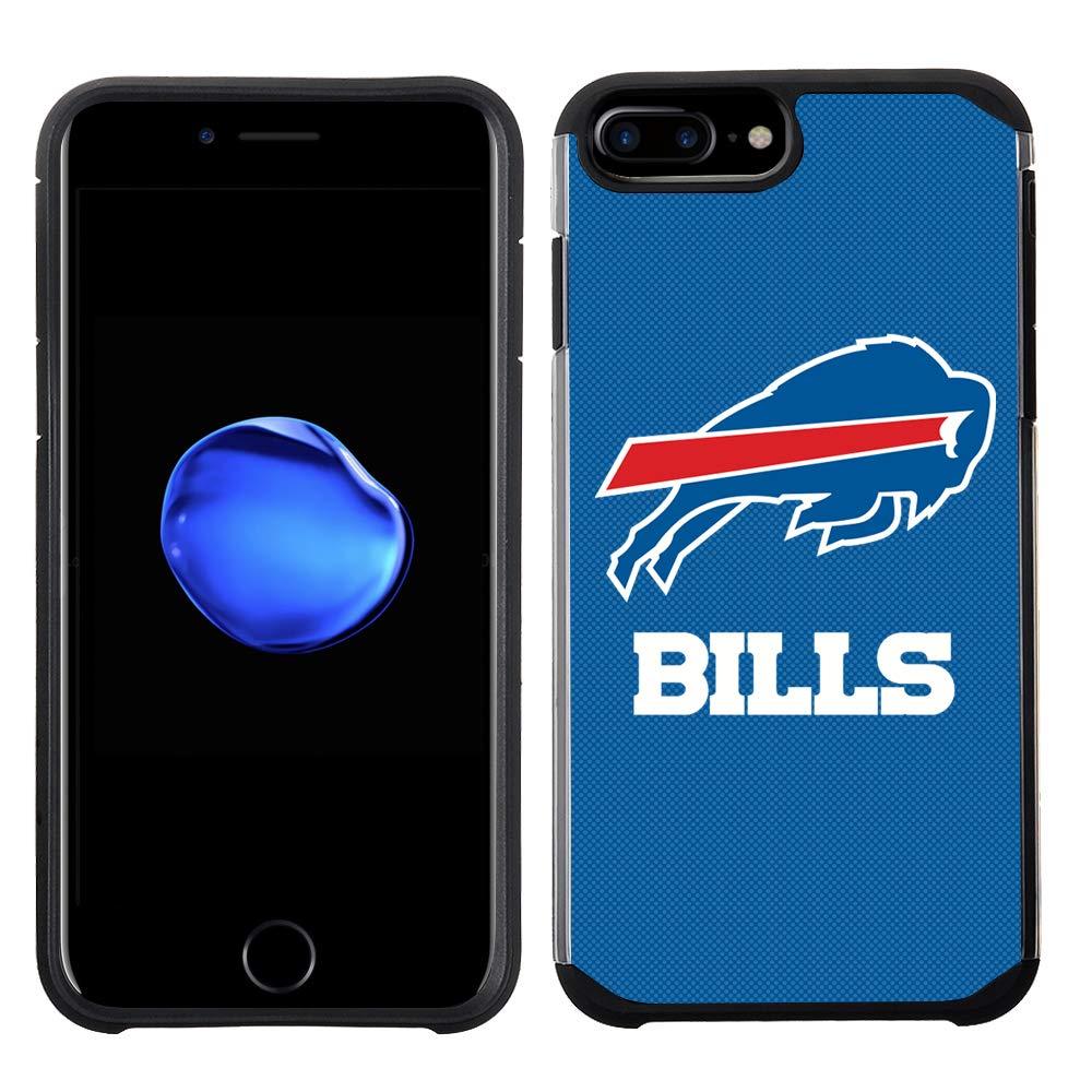 NFL Licensed Buffalo Bills Textured Solid Color Prime Brands Group Cell Phone Case for Apple iPhone 8 Plus//iPhone 7 Plus//iPhone 6S Plus//iPhone 6 Plus
