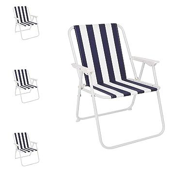 Mojawo - Juego de 4 sillas Plegables para Camping, Color ...
