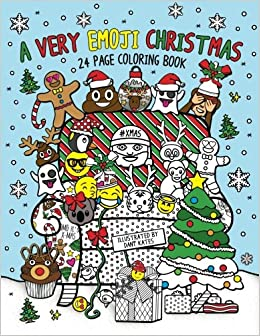 christmas emoji coloring pages - a very emoji christmas coloring book 24 page coloring