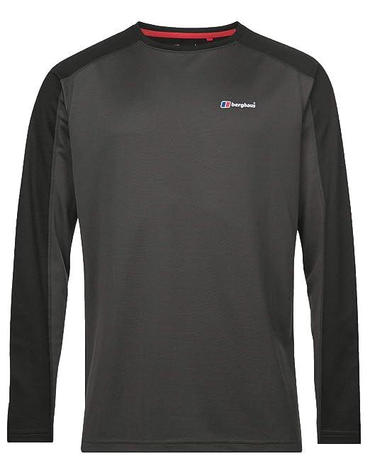 Berghaus Mens Tech 2.0 Long Sleeve Crew Neck T-Shirt