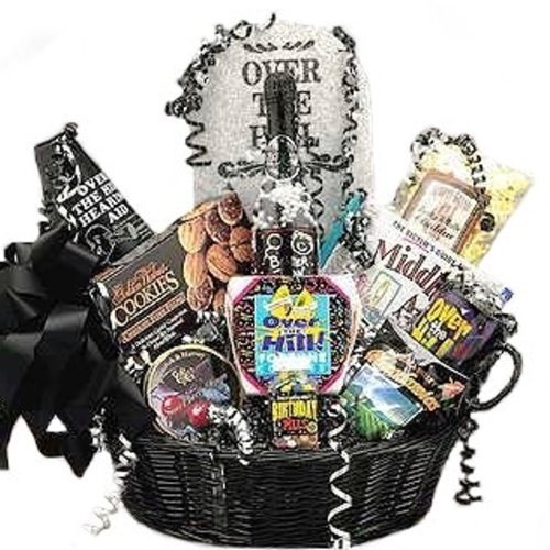 Over the Hill Birthday Gift Basket (Hill Birthday Cookie)