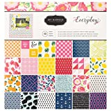 American Crafts Jen Hadfield Everyday Patterned Paper Pad by Pebbles Inc. | 12 x 12-inch pad | 48 sheets of medium-weight paper in various patterns