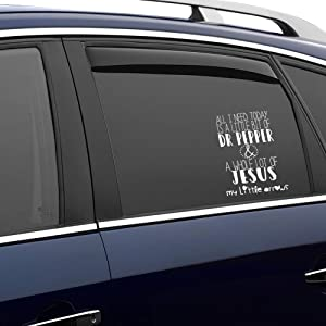 Dr Pepper and Jesus auto Sticker,Vinyl Car Decal,Decor for Window,Bumper,Laptop,Walls,Computer,Tumbler,Mug,Cup,Phone,Truck,Car Accessories