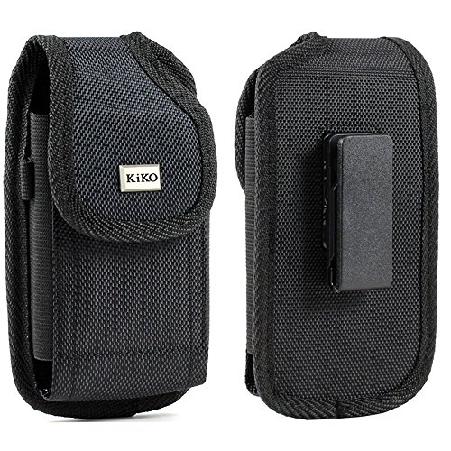 """XXL Size Samsung Galaxy Note 8 2017 6.3"""" Vertical Nylon Case Pouch Holster with Belt Clip ( the phone with OTTER BOX SYMMETRY / Defender / LIFEPROOF / Mophie Juice Pack Air/Plus Case On)"""