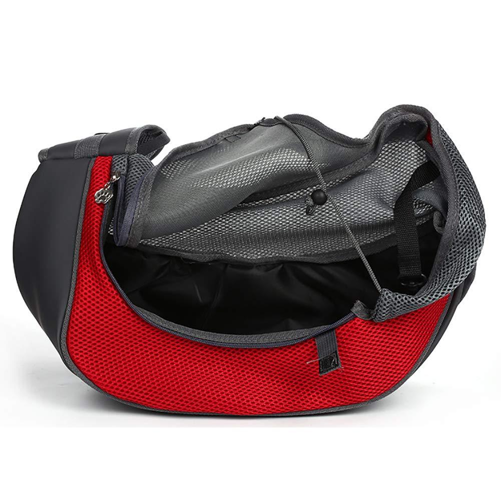 Qchengsan Pet Sling Carrier,Dog Cat Sling Bag Shoulder Carry Bag Dog Pets Travel Carrier Bag Hand Free Pet Travel Shoulder Bags S, Blue