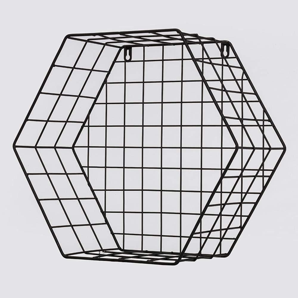 Yunfeng Bookshelf,Wall-Mounted Multi-Function Rack mesh Geometry Hexagonal Square Storage Shelf