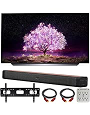 $1399 » LG OLED55C1PUB 55 Inch 4K Smart OLED TV with AI ThinQ (2021 Model) Bundle with Deco Home 60W 2.0 Channel Soundbar, 37-70 inch TV Wall Mount Bracket Bundle and 6-Outlet Surge Adapter
