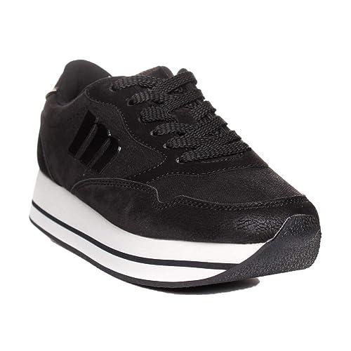 Mustang 69333 Deportivo Cordones 1 Negro 36: Amazon.es: Zapatos y complementos