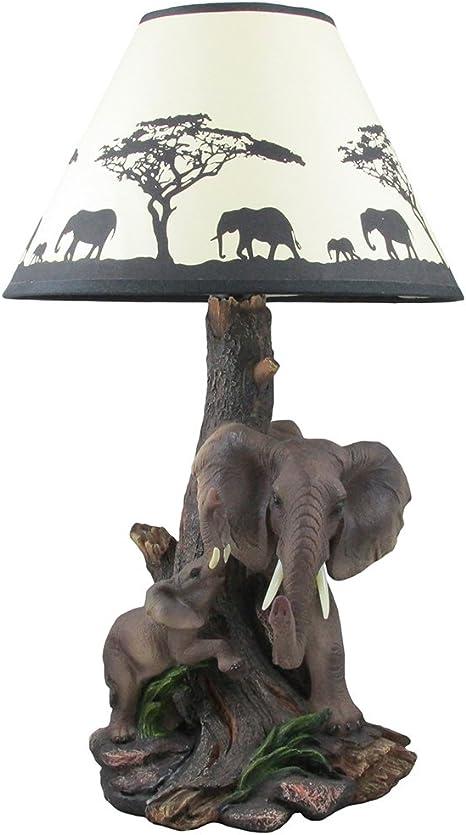 "8/"" Baby Elephant Wildlife Statue Animal Decor Figure Sculpture Wild Safari"