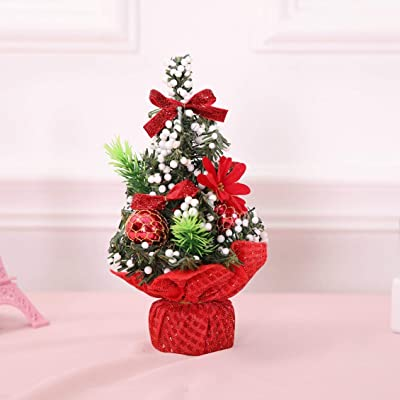 pgige creative christmas tree table decoration holiday mini artificial trees christmas decorations supplies for home