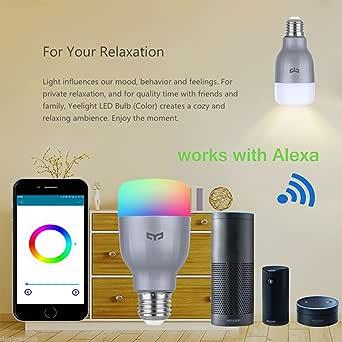 8W RGB Smart LED Bulb Light E26 Wifi Control Dimmable Work with Amazon Alexa App