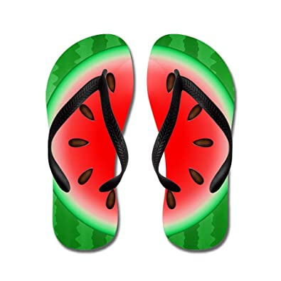 2481038bc7df CafePress - Watermelon Slice - Flip Flops