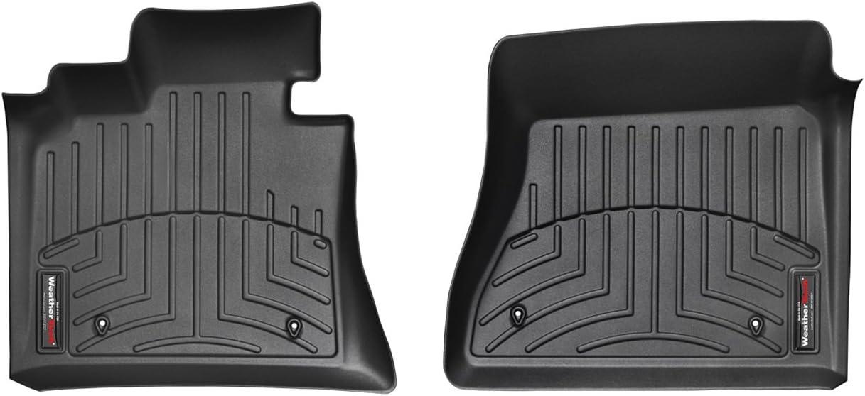 Black WeatherTech Front FloorLiner for Select Kia Forte Models