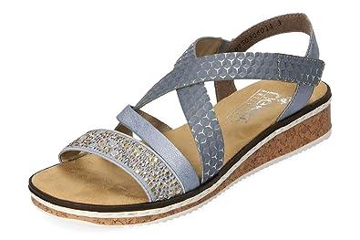 Blaue Rieker Sandale Gr.37