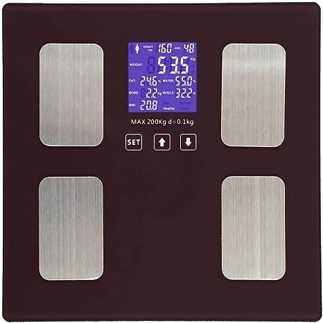 Báscula De Grasa Corporal Bluetooth, Báscula De Baño Digital Inteligente Para El Peso Corporal,