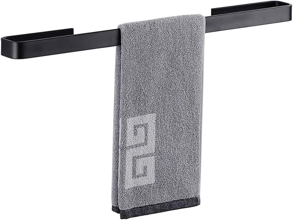 Black Single Towel Bar Wall Mount Stainless steel 304 Rail Rack Holder for Bath