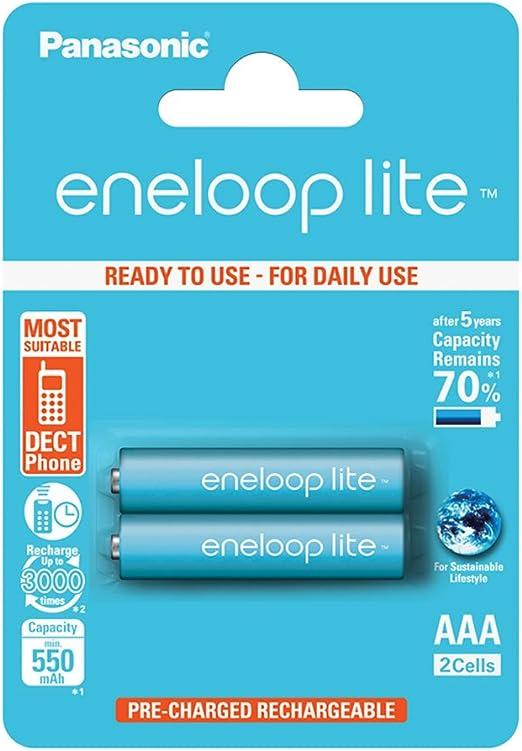 Panasonic eneloop lite pre-charged: Amazon.es: Electrónica