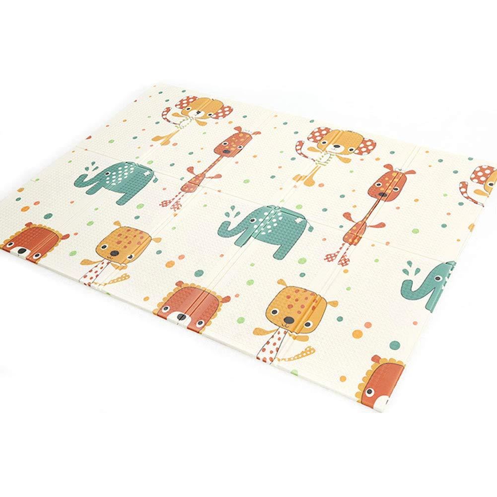 Jialiang Kid Play Mat, Non Toxic Folding Floor Mat Foam Large Tiles Waterproof Baby Crawling Mat for Boy Girl, 58.3'x76.8'x0.4' Thick,Elephant