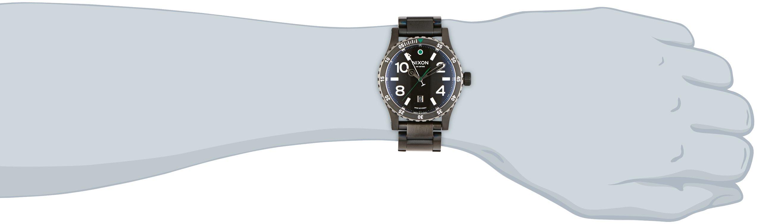 NIXON Men's Quartz Watch with Stainless Steel Strap, Black (Model: A277-1421 by NIXON